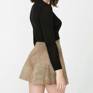 american apparel real leather circle mini skirt